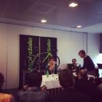 At the pre-Ronde Peter Sagan press conference